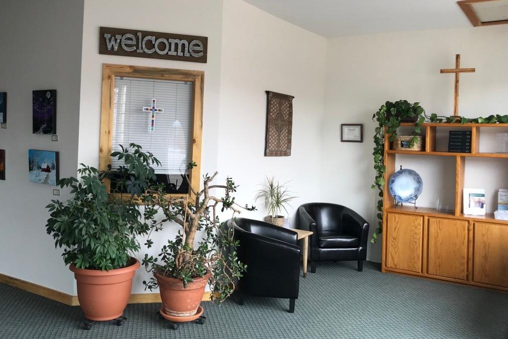 Our church's lobby area